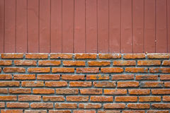 Brick wall with vertical line brown background, splitted Stock Photo