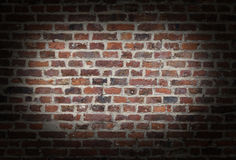 Brick Wall Vignette Stock Photography