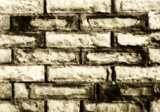 Brick wall, vintage hue, detail, background Stock Image