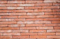 Brick wall. Vintage orange rectangular brick wall Stock Photography