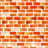 Brick wall watercolor seamless Stock Photo