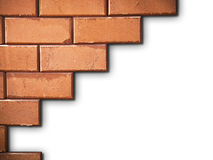 Brick wall on white Royalty Free Stock Photo