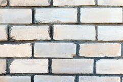 Brick wall. White brick background for your projects. Close up.  royalty free stock photography