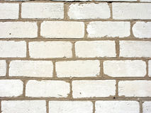 Brick wall of white brick Royalty Free Stock Images