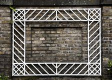 Brick Wall with White Frame. Blank Brick Wall with White Frame Border stock photo