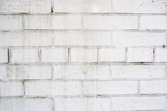 Brick wall. White brick wall old rusty Royalty Free Stock Images