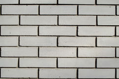 Brick wall. White wall of sand-lime brick stock photo