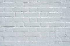 Brick wall with white whitewashing close up Stock Photos