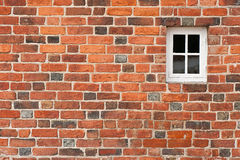 Brick wall with window Royalty Free Stock Photos