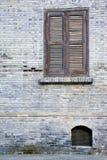 Brick wall and window Stock Image