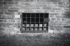 Brick wall with a window Stock Photo