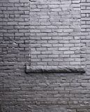 Brick Wall with a window box. Royalty Free Stock Image