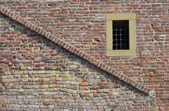 Brick wall and window Stock Images