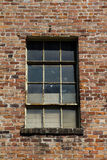 Brick wall with window. Old brick wall with window Stock Photo