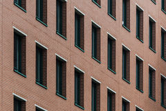 Brick wall and window pattern. As background Royalty Free Stock Image