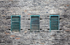 Brick wall and windows Royalty Free Stock Images