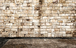 Brick Wall With Floor Royalty Free Stock Images