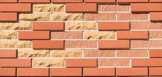 Brick Wall With New Bricks Stock Image