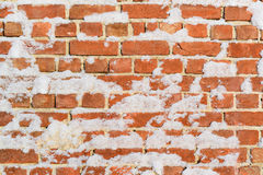 Free Brick Wall With Snow Perfect As Background Stock Images - 46271584