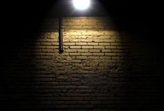 Brick Wall With Spotlight Stock Photography