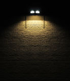 Brick Wall With Spotlight Royalty Free Stock Photo