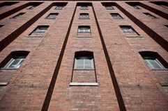 Free Brick Wall With Windows Warehouse Exterior Royalty Free Stock Photo - 26162355