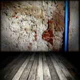 Brick wall and wood floor Royalty Free Stock Photo