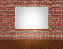 Brick wall and wood floor background Royalty Free Stock Images