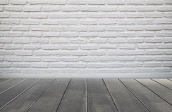 Brick wall and wood floor Stock Image
