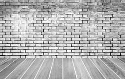 brick wall and wood floor texture Stock Photo