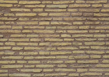 Brick Wall. Yellow brick wall of an old house, a horizontal Stock Photography