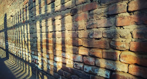 The brick walled scenery stock photography