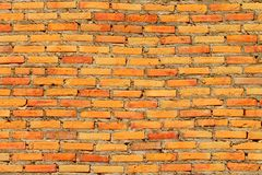Brick walls. The red brick wall which has a distorted structure Royalty Free Stock Image