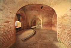 Brick Walls and Arches of an  American Fort Built  Royalty Free Stock Photo
