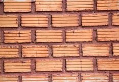 Brick walls around the house Stock Image