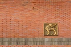 Brick Walls of churches Stock Photo