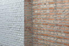 Brick walls. And a corner as background Royalty Free Stock Photography