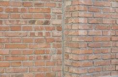 Brick walls. And corner as background Stock Image