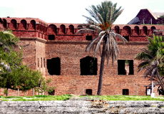 Brick walls of Fort Jefferson Royalty Free Stock Photography