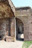 Brick Walls of Fort Sumter Stock Photo