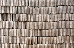 Brick. Walls of historic houses in typical structure Stock Photo