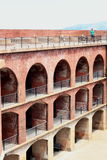 Brick Walls inside of Fort Point San Francisco. Walls inside of Fort Point next to the Golden Gate Bridge Stock Images