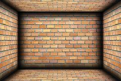 Brick walls on interior architectural backdrop Stock Image