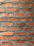 The brick walls. The naked brick walls (not plastered Royalty Free Stock Image