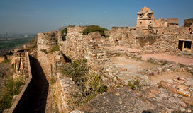 Brick walls and old buildings of indian Chitaurgarh Fort in India Royalty Free Stock Image
