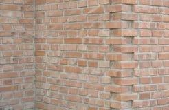Brick walls. Three  housing walls as background Stock Photos