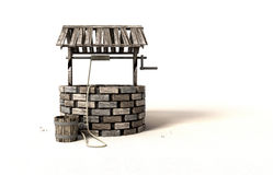 Wishing Well With Wooden Bucket And Rope Royalty Free Stock Images