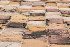 Brick in the way. royalty free stock photos
