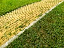 Brick way sidewalk Royalty Free Stock Images