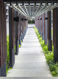 Brick way with sunshade,walkway Stock Photography